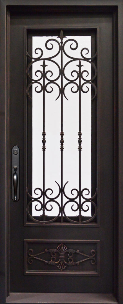Iron envy doors wrought iron front doors dallas for Door design of iron